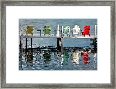 Lakeside Living Framed Print by Steve Gadomski