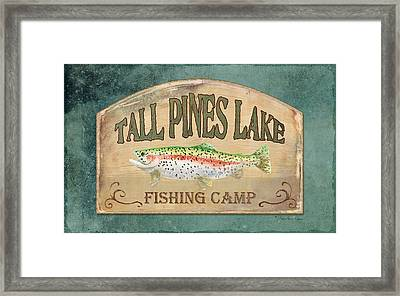 Lakeside Lodge - Fishing Camp Framed Print by Audrey Jeanne Roberts