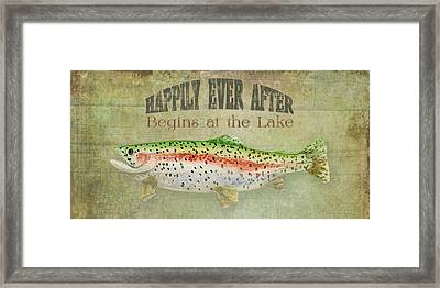 Lakeside Lodge - Happily Ever After Framed Print by Audrey Jeanne Roberts
