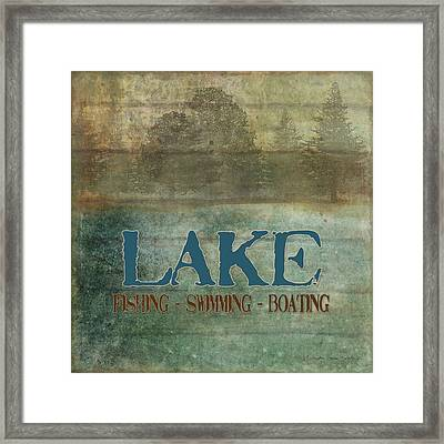 Lakeside Lodge - Lake Life Framed Print by Audrey Jeanne Roberts
