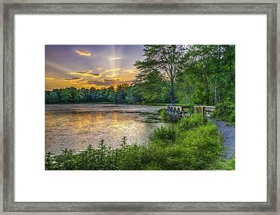 Lakeside Sunset  Bushkill Framed Print by F. M. Kearney