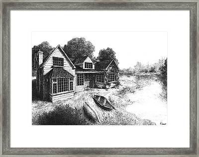 Lakeview Framed Print by Ahmed Darwish