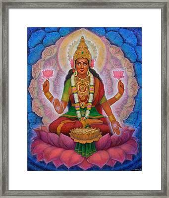 Lakshmi Blessing Framed Print by Sue Halstenberg