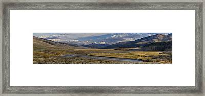Lamar Valley Panorama Framed Print by Mark Kiver