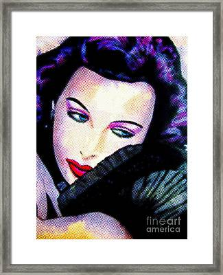 Lamarr Framed Print by Colleen Kammerer