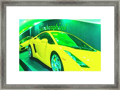 Lambo London Framed Print by Jan W Faul