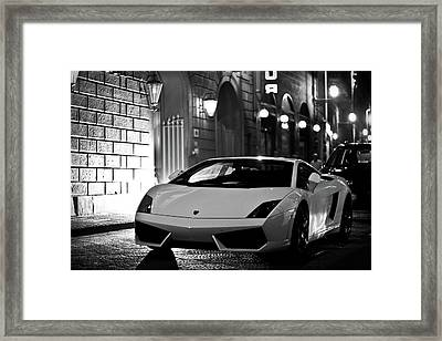 Lambo Noir Framed Print by Patrick English