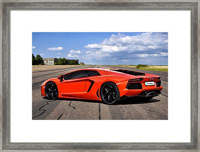 Lambo Runway Framed Print by Peter Chilelli