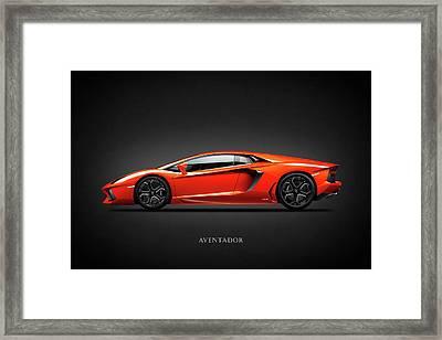 Lamborghini Aventador Framed Print by Mark Rogan