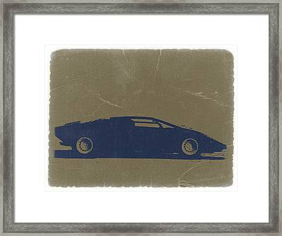 Lamborghini Countach Framed Print by Naxart Studio