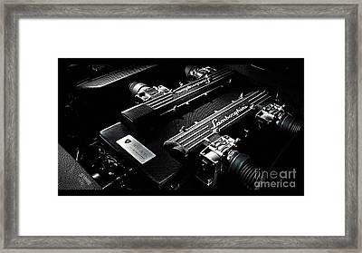 Lamborghini Engine Framed Print by Marvin Blaine