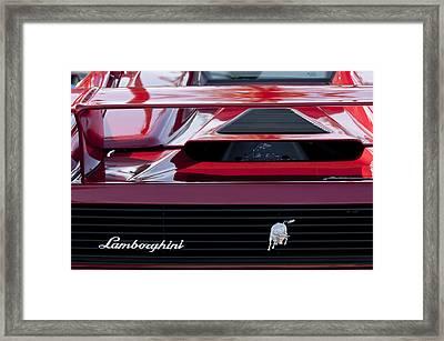Lamborghini Rear View Framed Print by Jill Reger