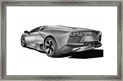 Lamborghini Reventon Framed Print by Lyle Brown
