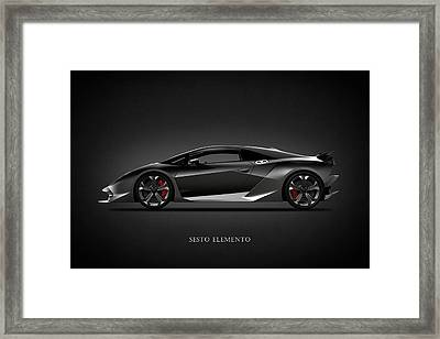 Lamborghini Sesto Elemento Framed Print by Mark Rogan