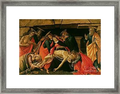 Lamentation Of Christ Framed Print by Sandro Botticelli