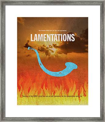 Lamentations Books Of The Bible Series Old Testament Minimal Poster Art Number 25 Framed Print by Design Turnpike
