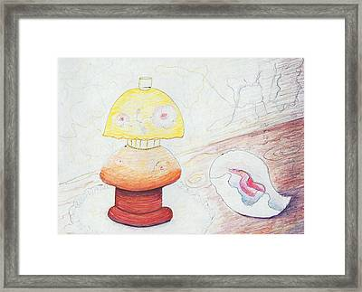Lamp And Shell Framed Print by Suzanne  Marie Leclair