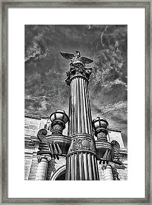 Lamp Post At Railroad Station In Washington Dc. Framed Print by Val Black Russian Tourchin