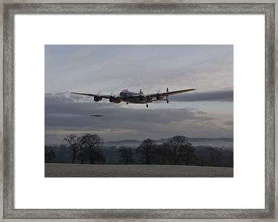 Lancaster - He Aint Heavy He's My Brother' Framed Print by Pat Speirs