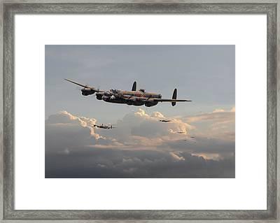 Lancasters - 'maximum Effort' Framed Print by Pat Speirs