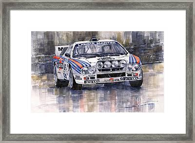 Lancia 037 Martini Rally 1983 Framed Print by Yuriy  Shevchuk
