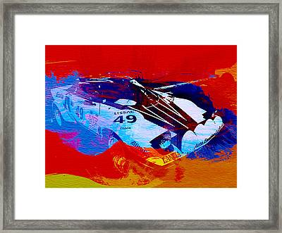 Lancia Stratos Watercolor 2 Framed Print by Naxart Studio