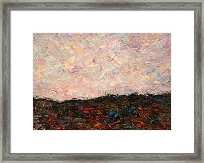 Land And Sky Framed Print by James W Johnson