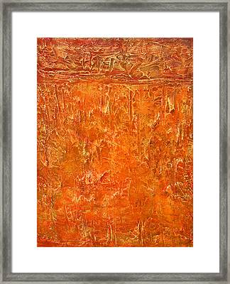 Land In Orange Framed Print by Habib Ayat