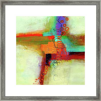 Land Line #1 Framed Print by Jane Davies