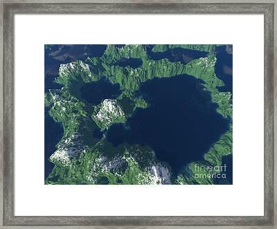 Land Of A Thousand Lakes Framed Print by Gaspar Avila