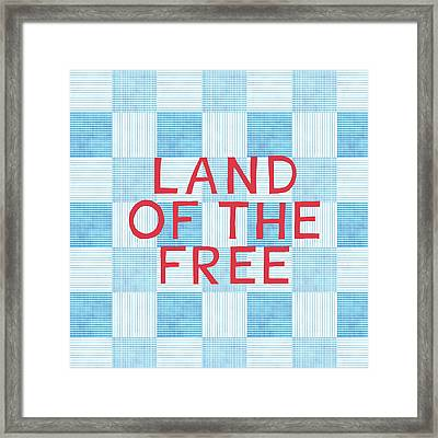 Land Of The Free Framed Print by Linda Woods