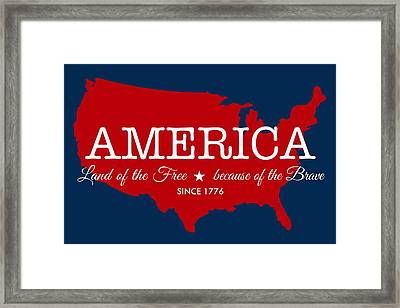 Land Of The Free Framed Print by Nancy Ingersoll