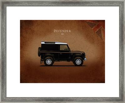 Land Rover Defender 90 Framed Print by Mark Rogan