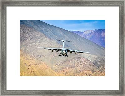 Landing At Leh Framed Print by Krishnaraj Palaniswamy