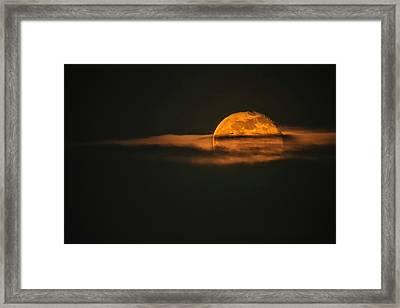 Landing On Full Moon Framed Print by Eduard Moldoveanu