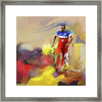 Landon Donovan 545 1 Framed Print by Mawra Tahreem
