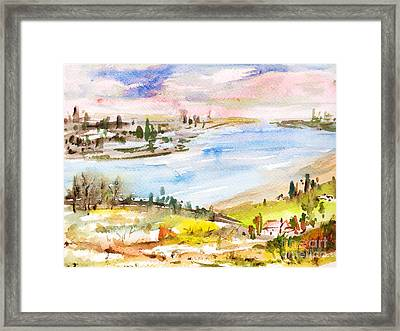 Landscape 3 Framed Print by Xueling Zou