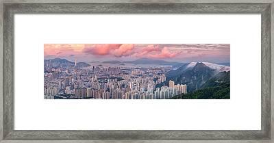 Landscape For Hong Kong City Framed Print by Anek Suwannaphoom