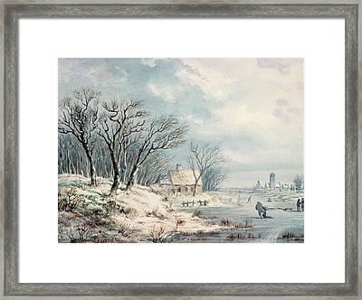 Landscape In Winter Framed Print by JJ Verreyt