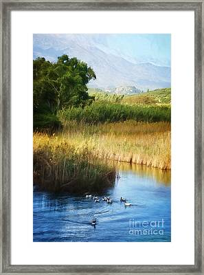 Landscape Of Crete Framed Print by HD Connelly