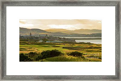 Landscape Of St Andrews Home Of Golf Framed Print by MaryJane Armstrong