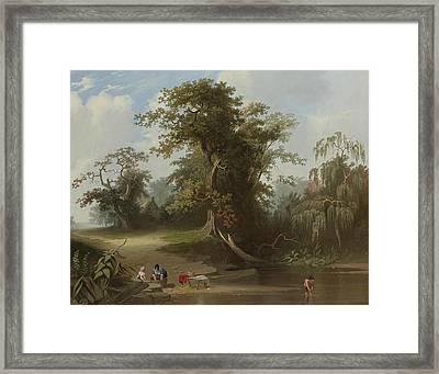 Landscape Rural Scene Framed Print by George Caleb Bingham