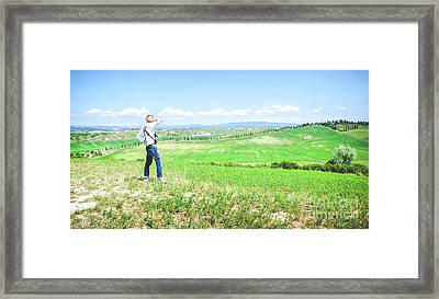 Landscape Tuscany Hills Framed Print by Luca Lorenzelli