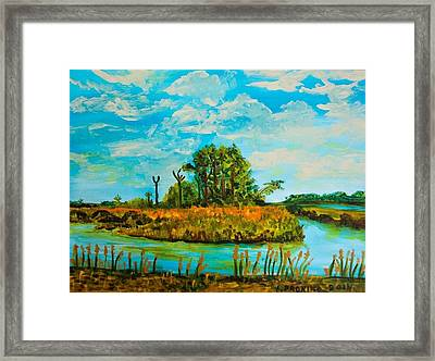 A Tranquil Autumn Day Framed Print by Elena Pronina