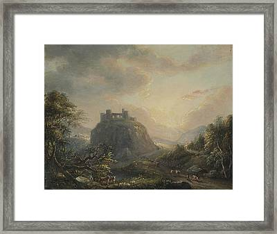 Landscape With A Castle Framed Print by Paul Sandby