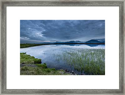Landscape With Water Grass Framed Print by Panoramic Images