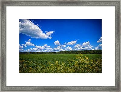 Lanesboro Fields Framed Print by Bill Tiepelman