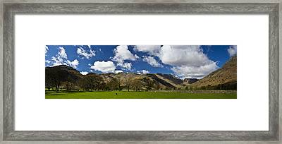 Langdale Panorama Framed Print by Chris Whittle