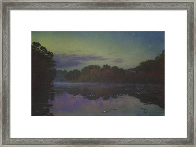 Langwater At Twilight Framed Print by Bill McEntee