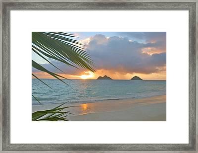 Lanikai Sunrise Framed Print by Tomas del Amo - Printscapes